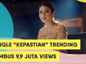 Single 'Kepastian' Aurel, Trending Nomor 1 Youtube