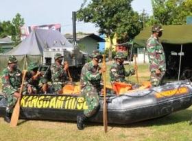 Korem 063/SGJ Gelar Latihan Penanggulangan Bencana